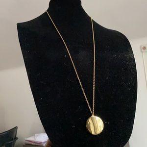 J Crew Locket Pendant & Chain Necklace